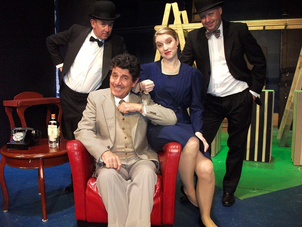 Gordon Park, Gino Cataldo, Emma Shaw and Andrew Govey are appearing in The 39 Steps at Limelight Theatre.
