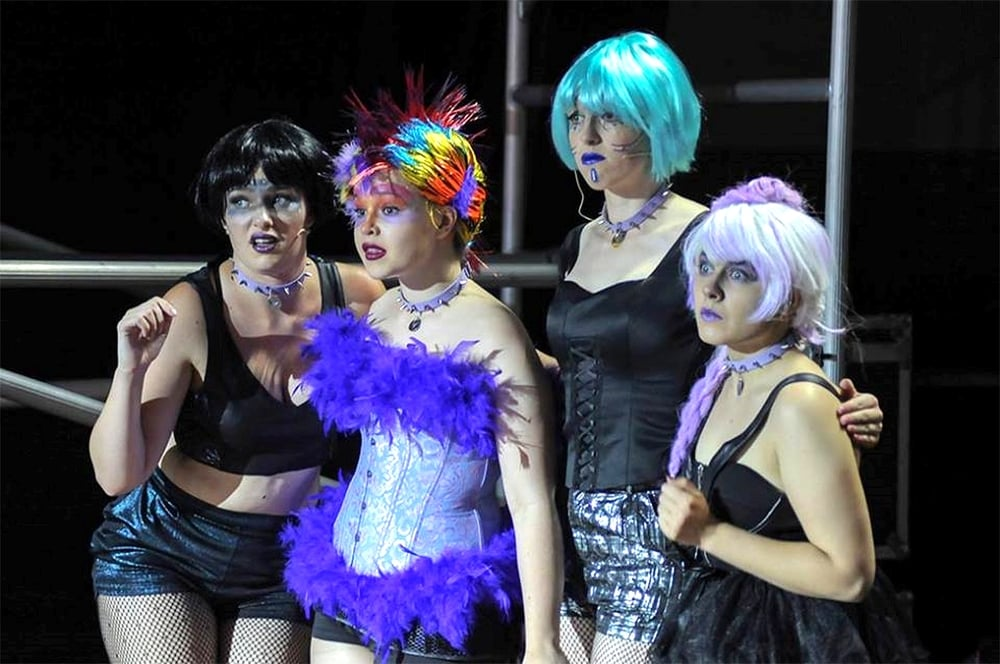 Christie Strauss, Rachael McCallum, Kate Lloyd and Tay Howard are appearing in Saucy Jack and the Space Vixens at Fringe World. Picture: Michael McAllan.