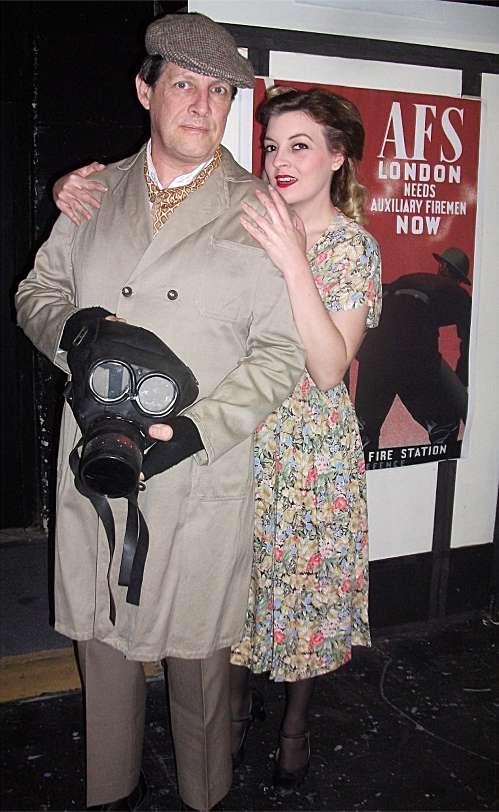 Ernie Nearmiss (Tim Riessen) and Elsie (Tania Morrow) in  Blitz! , a musical set during World War II.