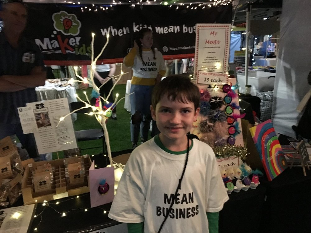 Maker Kids Club - We help school age kids (6-17 years old) launch their own micro-businesses. We also coordinate market opportunities for them. Our kidpreneurs learn to be entrepreneurs. Along the way they gain important skills for work and life, such as financial management.