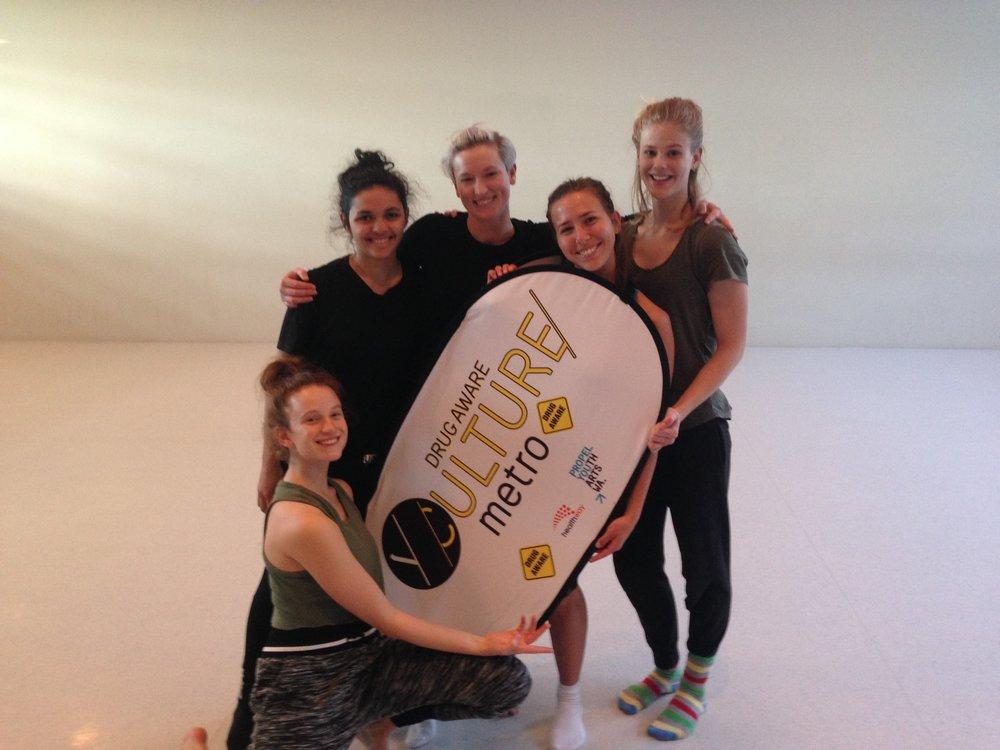 Michelle's Team with Banner (Isabella Stone).JPG