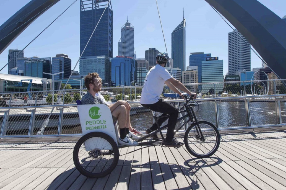 Peddle Perth - Peddle Perth is a youth-owned business, which offers an entertaining and environmentally friendly alternative to taxis!Usually run with a 'pay as you feel' model, where passengers donate after their ride, Peddle Perth will offer free rides during select days/times during KickstART. Keep an eye out for riders and rickshaws on Tuesday 16 April, before and after Pretzels, Peddles and Perseverance.Visit the Peddle Perth website