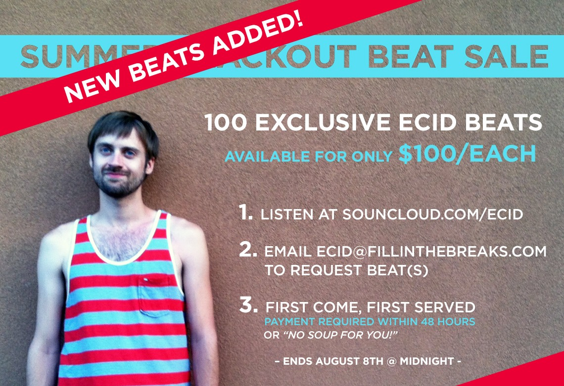Yes, I am very stoned in this photo https://soundcloud.com/ecid/sets/summerbeatsale
