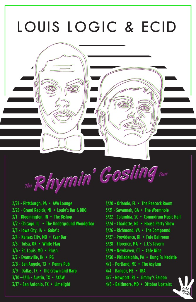 """THE RHYMIN GOSLING TOUR"" KICKS OFF TODAY! ! !"