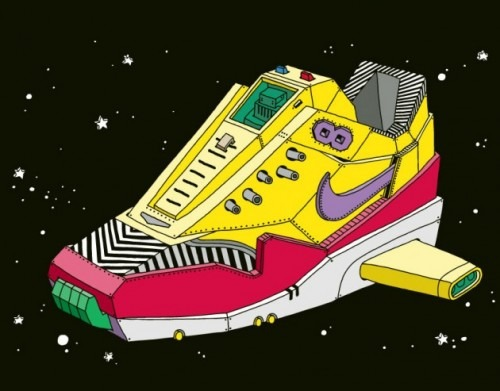 stupiddope: (via 'Space Sneaker' Illustrations by Ghica Popa) Damn I want these!