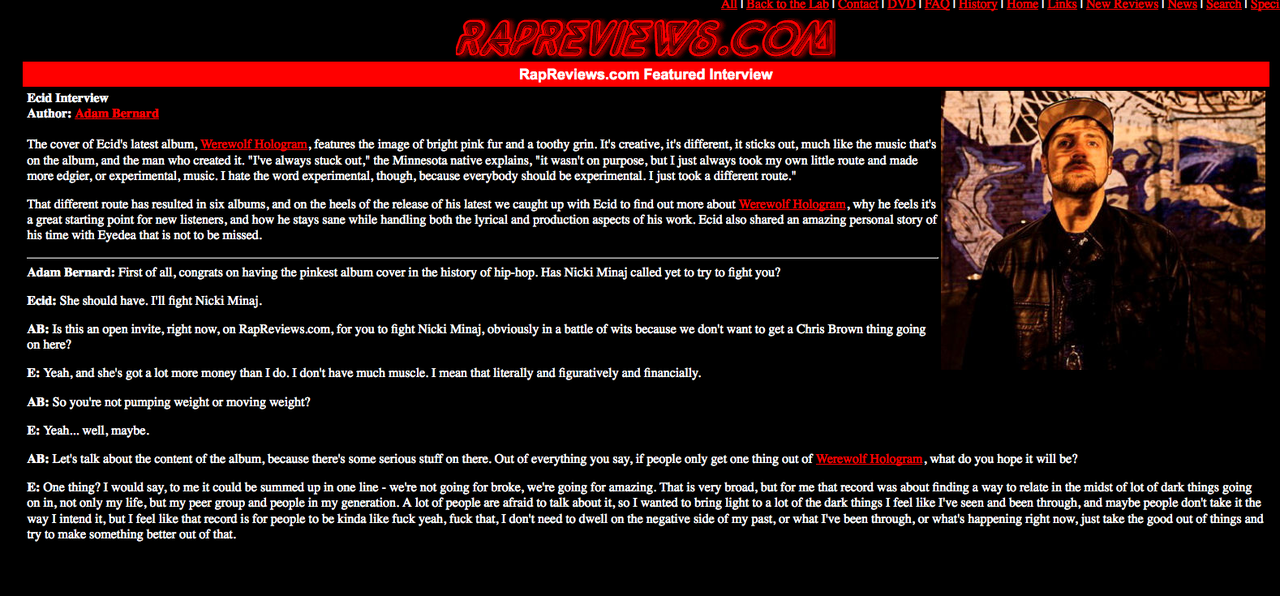 RapReviews.com was kind enough to interview me recently. We talked about Yoga Shorts, Nicki Minaj, revealed the truth about my connection to 2Pac, and managed to take nothing too seriously….. http://ht.ly/bZ8Dh
