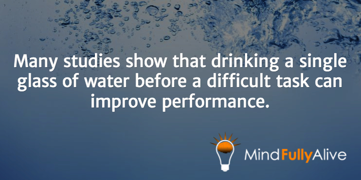 Drinking Water Improves Cognition