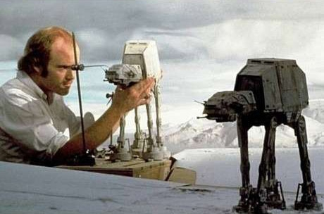 A giant creature on Hoth attacks an AT-AT in a deleted scene.