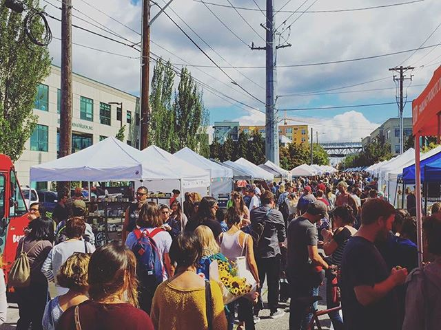We can't wait for summer! New official hours are 10-4pm year round! Shop, brunch and relax any Sunday! #streetmarket #visitseattle #shoplocal #sundayfunday