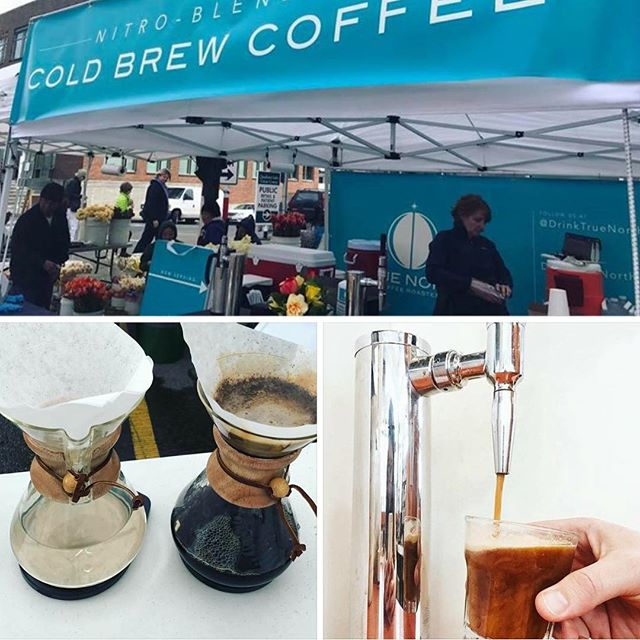 Wake up with @drinktruenorth with your choice of locally roasted beans on a pour-over or nitro brew #coffee #popup #fremontsundaymarket #seattle #coffeetime #coffeeart #foodporn #seattlecoffee