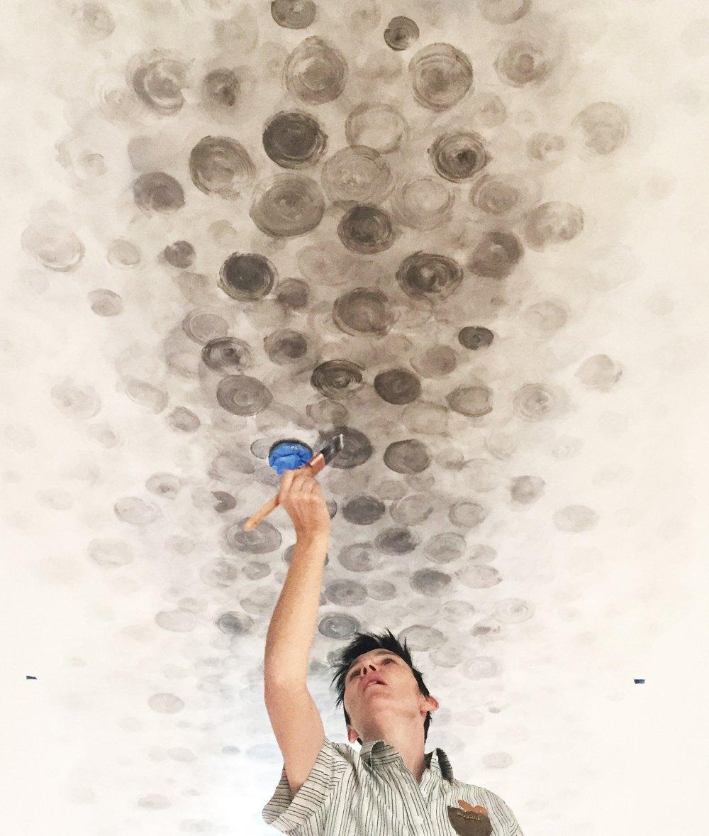 Custom Hand-Painted Ceiling / Santa Monica, CA