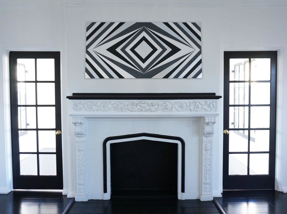Portal / 4' x 2' / Paint, Aluminium Leaf & Glitter Paint on MDF