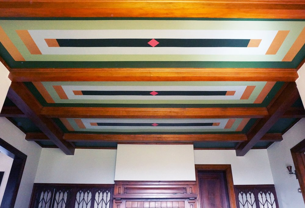 Custom Colours and painted ceiling design / Wattles Mansion Showcase House / Los Angeles, CA