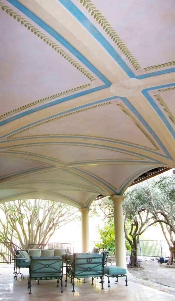 Painted & Glazed Loggia Ceiling / Private Residence / Bel Air, CA / Design by Scott Flax Studio