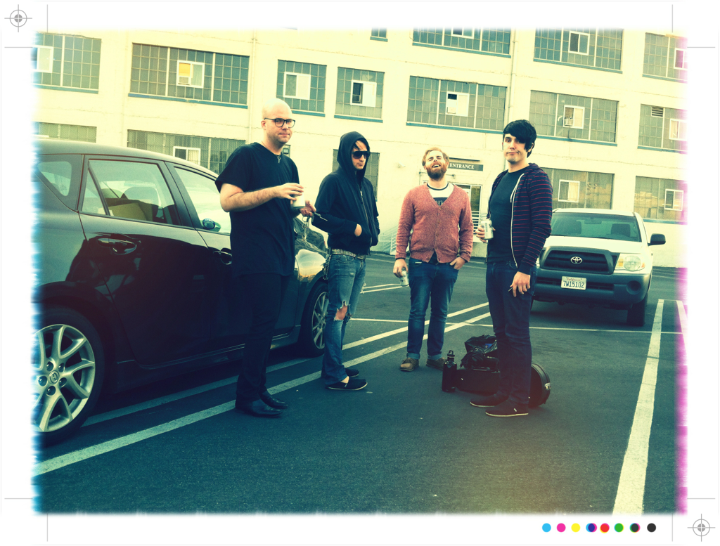 These clowns ha! I roll up about a half hour late for practice thinking I'm going to get reamed … To see these clowns hanging out in the parking lot … Apparently SOMEONE forgot the key to the practice space :p womp womp - Sammi Doll