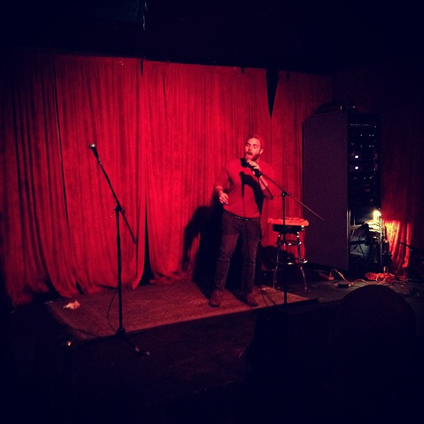 Andy Marshall on vocals, ladies and gentlemen #karaoke (Taken with  instagram )