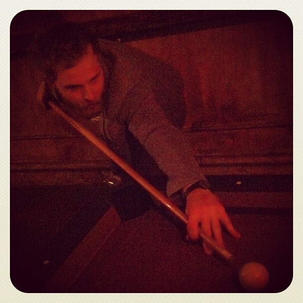 In the 70's, Andy was a pool shark. (Taken with  instagram )
