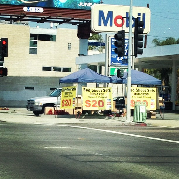 They have the perfect linens for that mattresses in the back of your rape van. (Taken with instagram)