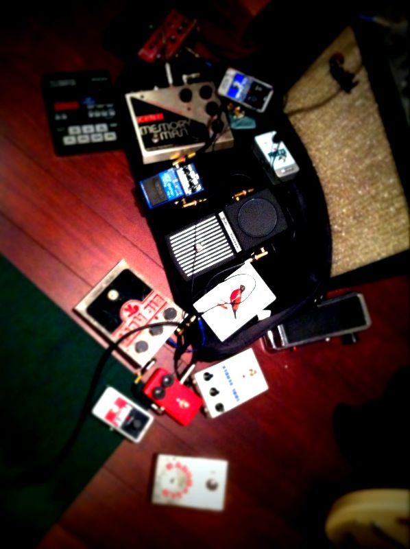 Home set-up pedal confusion for me in the midst of finding some new sounds for everyone. - ryan