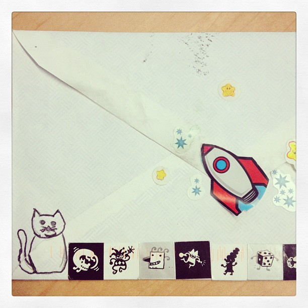 Fan mail wrapped in kittens and rockets can sure brighten a day