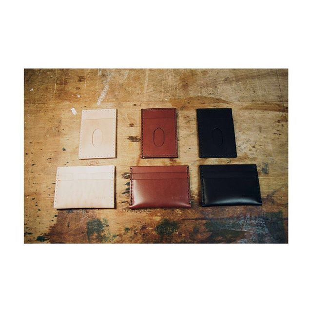 ludlow & stanton in all three colors -- available online, and great as stocking stuffers 🤶🎅 plus you can get 30% off thru tuesday with code WISHBONE at checkout 🤗🤗 .⠀ .⠀ .⠀ .⠀ #studio #thread #handsewn #handcrafted #wallet #leatherwallet #cardholder #leathercardholder #leatherworkingbench #louisegoods #leatherwork #accessory #leatherbelt #vegetabletanned #vegtan #edc #everydaycarry #madeinbrooklyn #womanartist #artist #maker #fashion #ootd #todayiwore #streetstyle #film #portra #shotonfilm #vsco