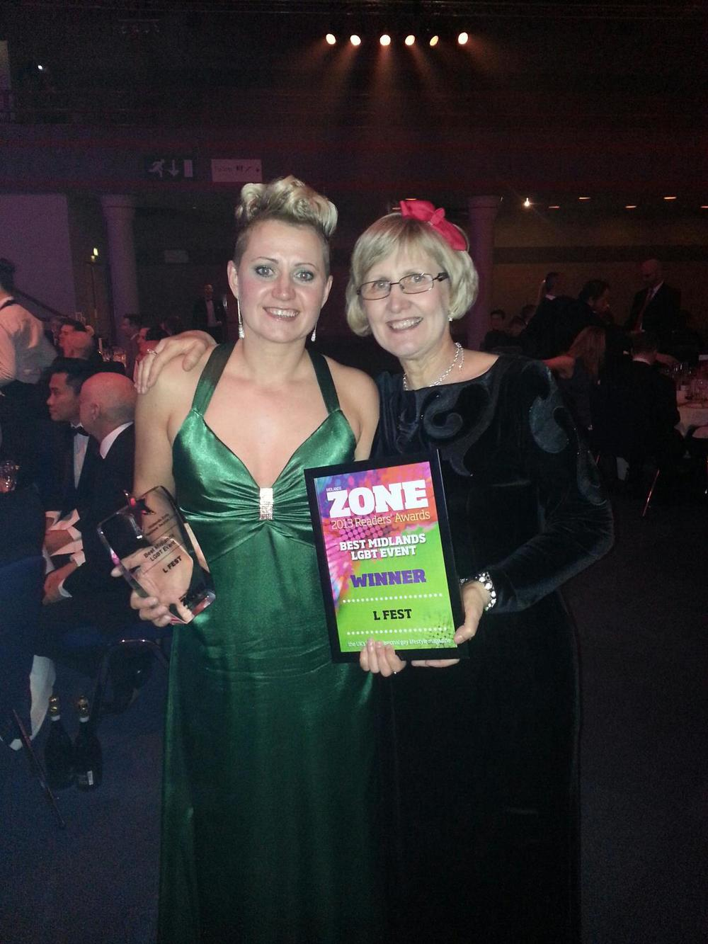 Me & Mum with the Midland Zone Award