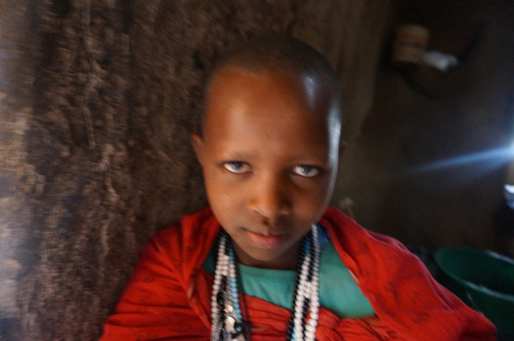 She wanted to do a selfie and was our photographer for our time in the Massai Village