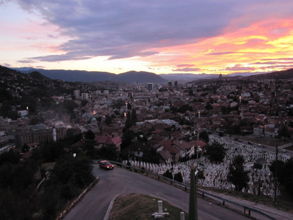Sarajevo on a day we met