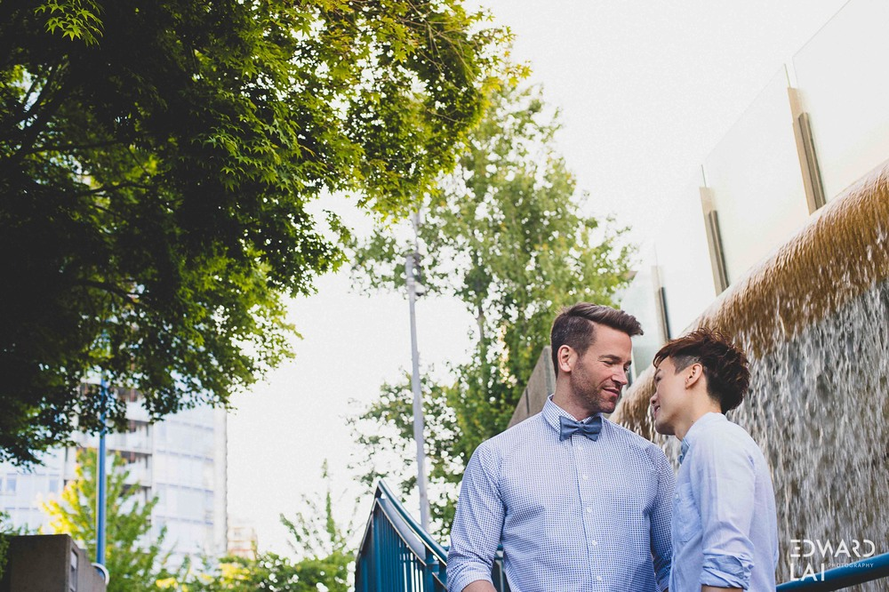 Vancouver gastown gay engagement photography edward lai photographer