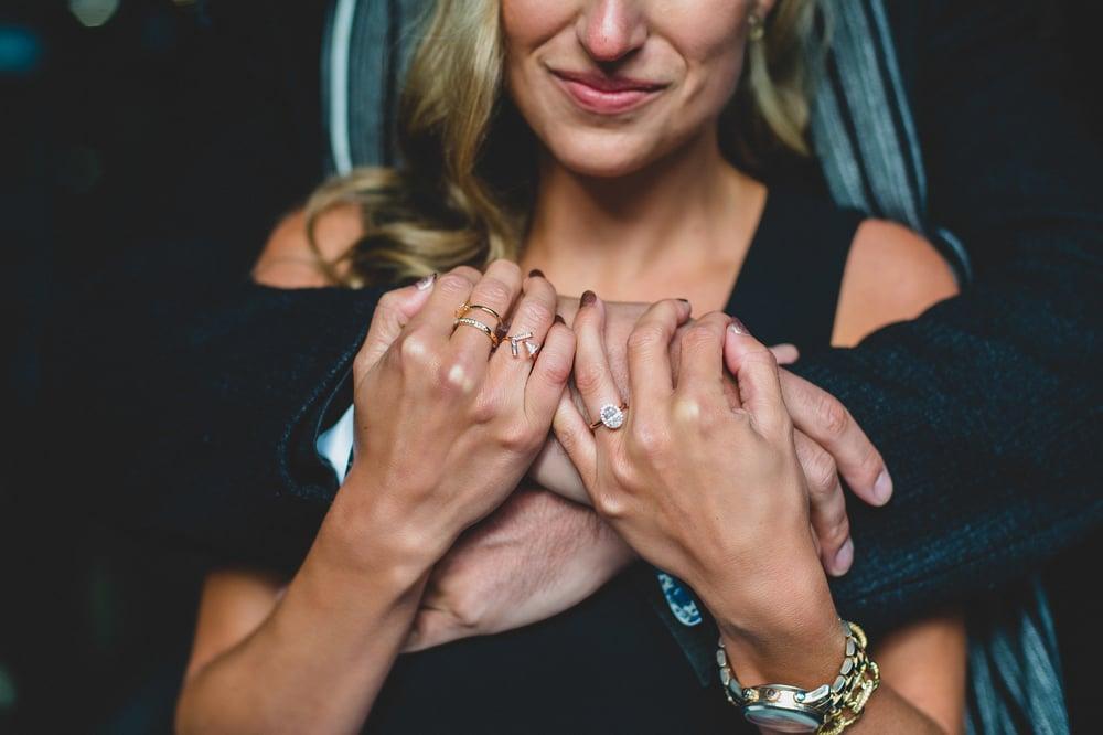 Couple engagement details vancouver gastown