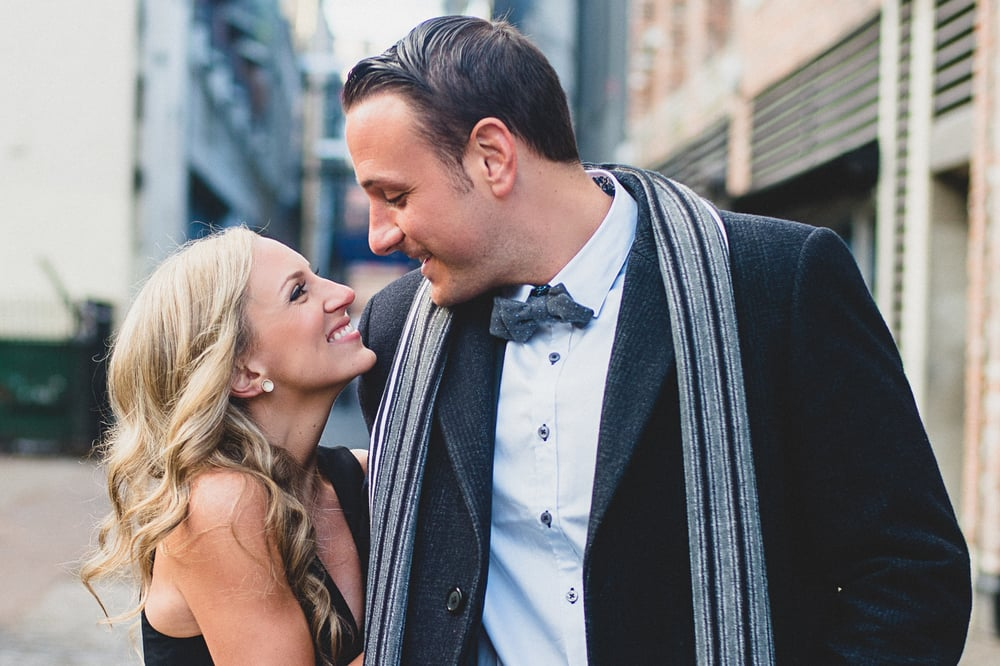 Vancouver gastown engagement photography