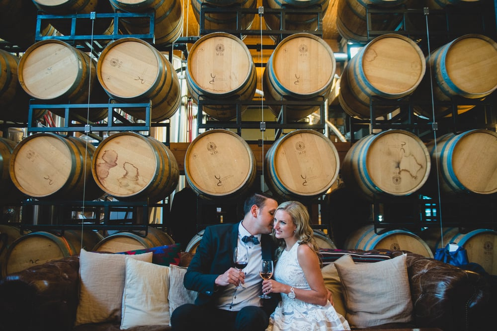 Vancouver Urban winery engagement photography