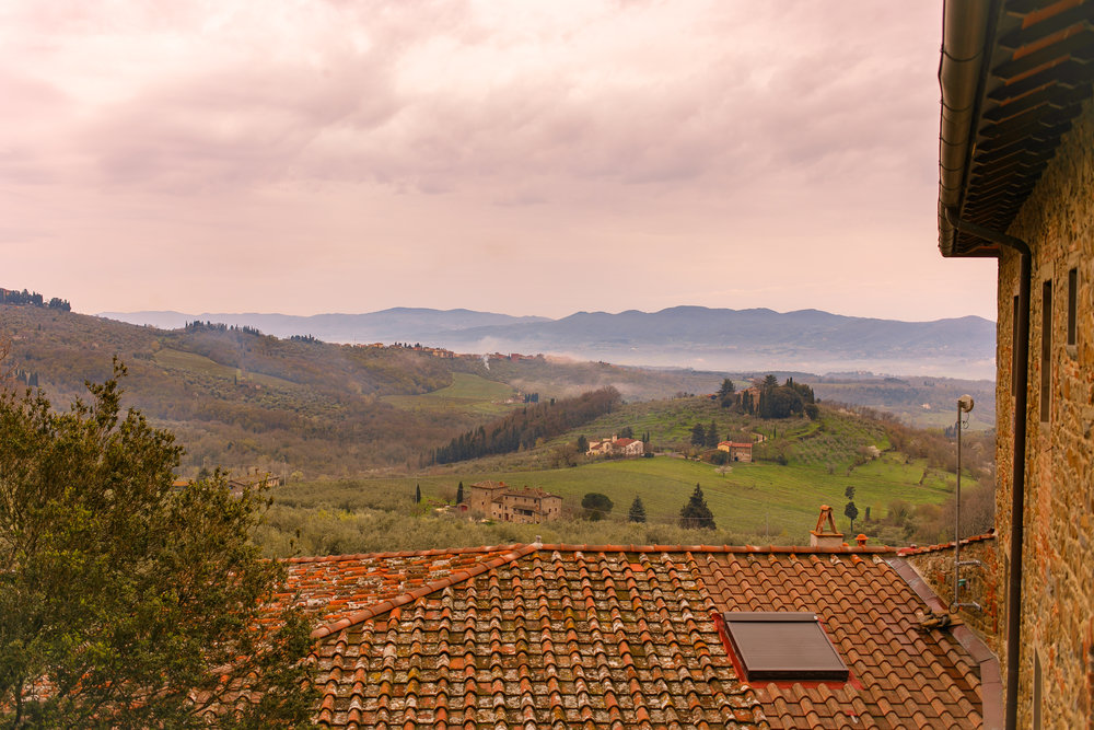 The view from my Airbnb outside of Pelago, Italy. This place was huge and so nice. Hard to get to, but only $35/night!