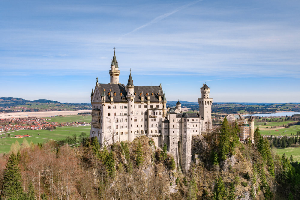 Neuschwanstein Castle, a beautiful sight to see.