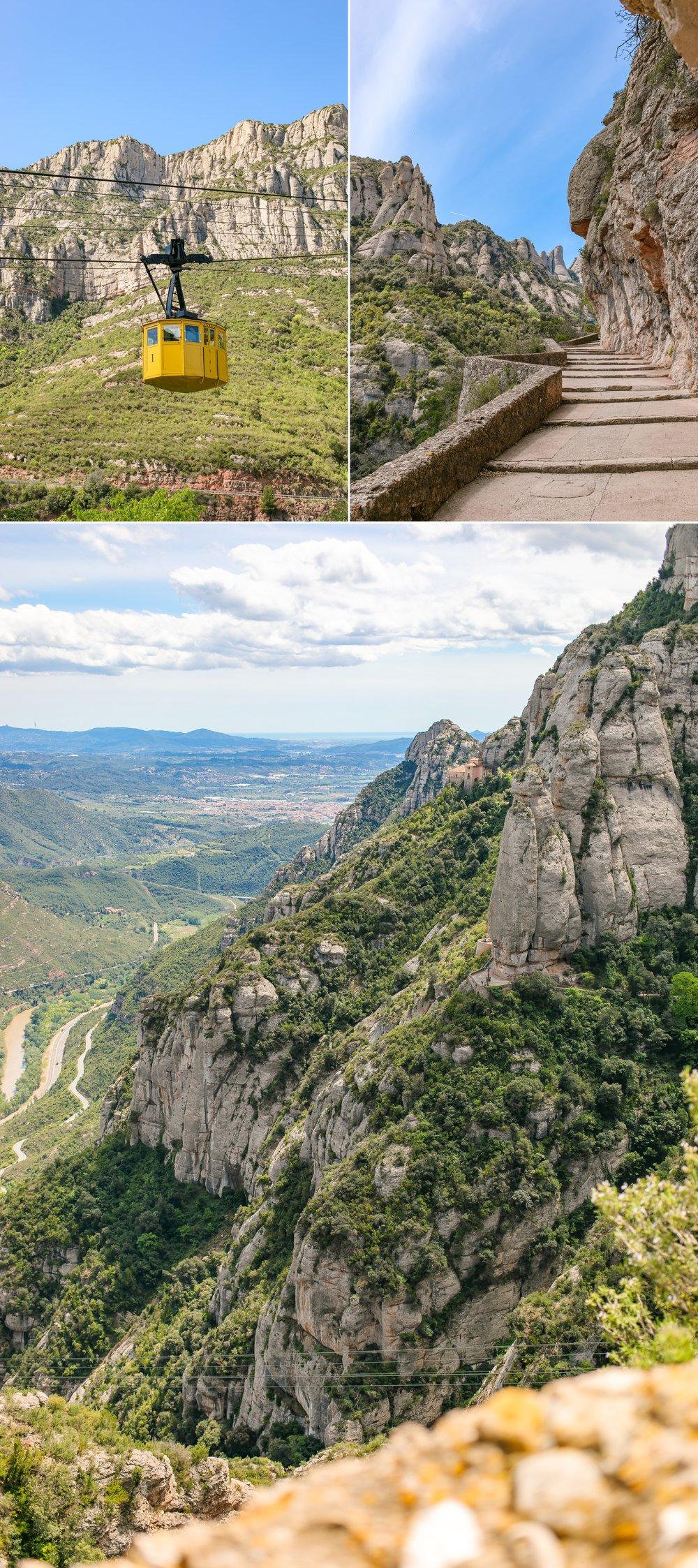 Took the train from Barcelona and then the cable car ride up to Montserrat.