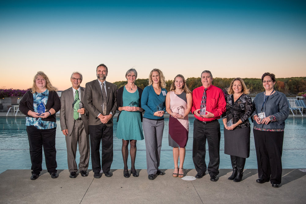 2016 Clinical and Administrative Excellence Awards Winners (From L-R) Andrea Watkins (MPCA); Gordon H. Smith, Esq. (MMA); David Ulrich, FNP (PCHC); Kay Nash, PA-C (PCHC); Angela Fileccia, LCSW (PCHC); Jordyn Turner (Eastport Health Care); Phil Higgins, DMD (PCHC Dental); Susan Cheff, MD (PCHC); Jennifer McCarthy, MEd, MS, LMHC, LCPC (Sacopee Valley Health Center)