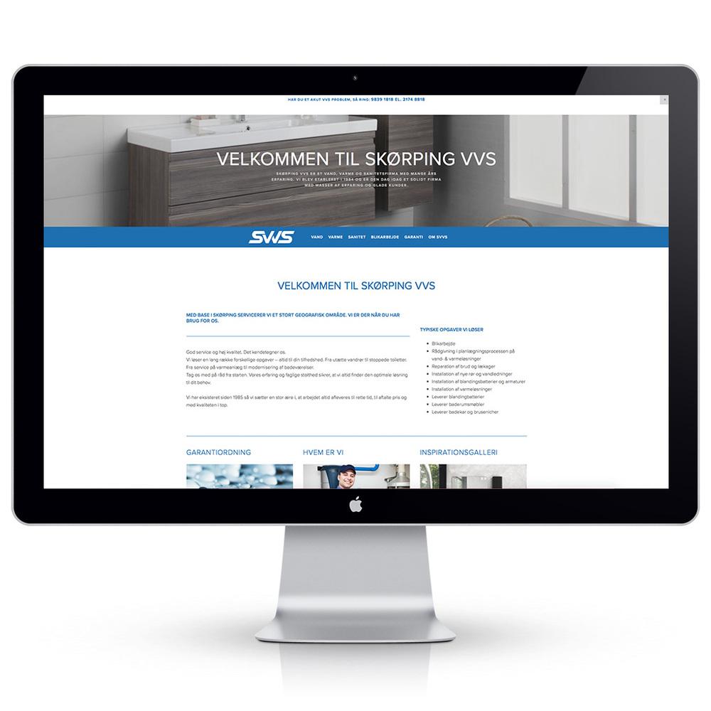 Hjemmeside til Skørping VVS