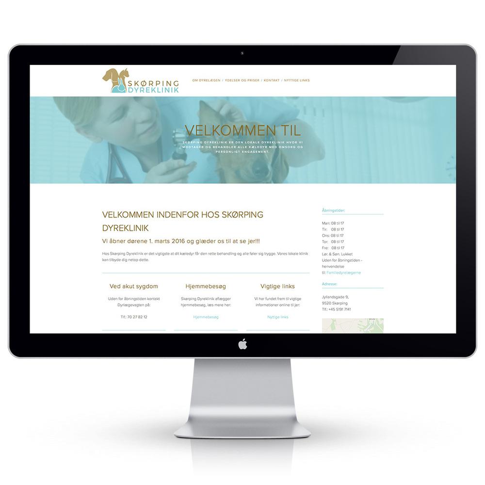 Ny hjemmeside til Skørping Dyreklinik