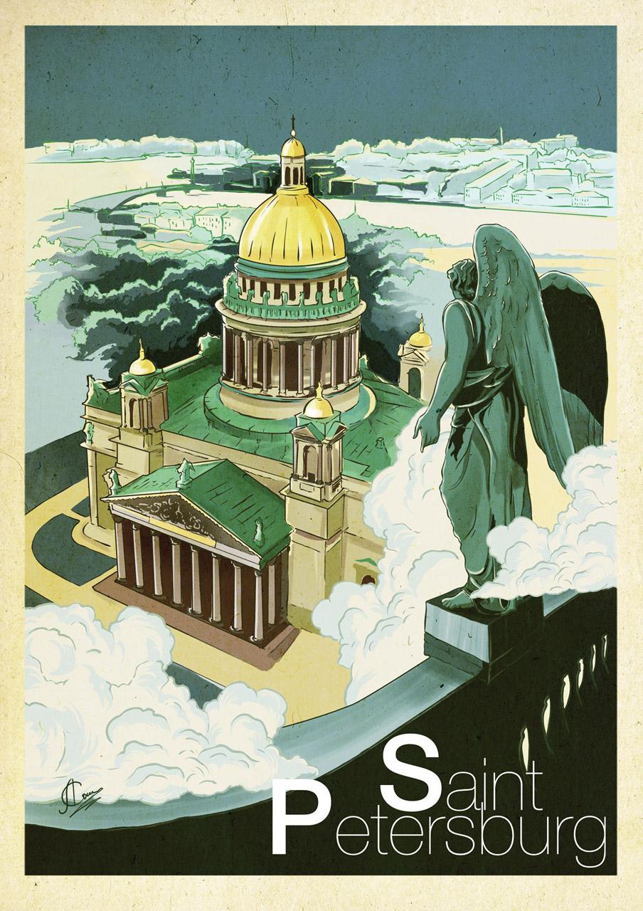 Saint Petersburg Poster anna sokolova art