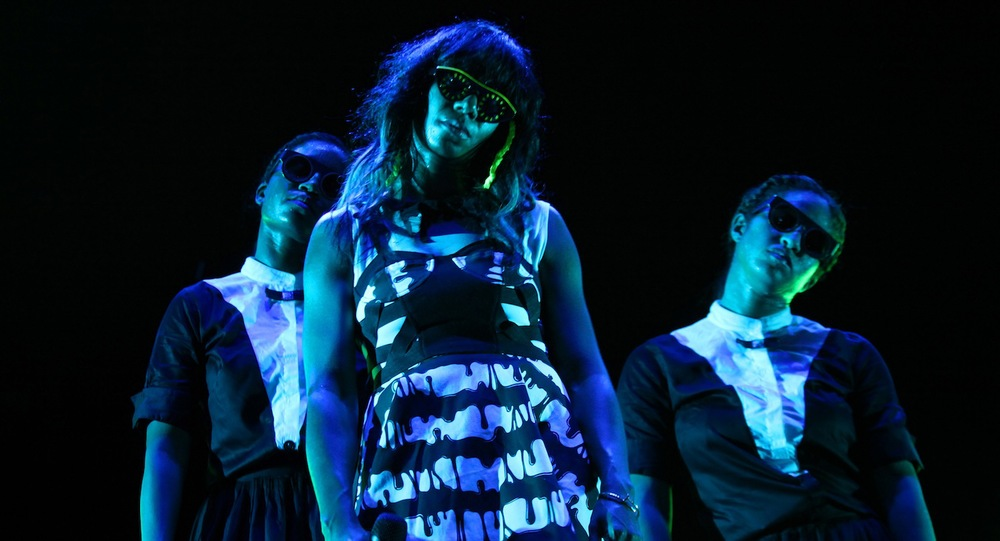 From left to right: Monica Josette, Santigold, and Desiree Godsell.