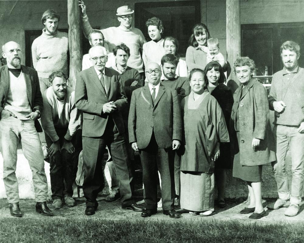 Leach Pottery staff 1966 with Shoji Hamada & wife.jpg
