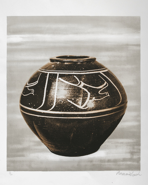 A Bernard Leach Lithograph £400    Limited Edition of 100.