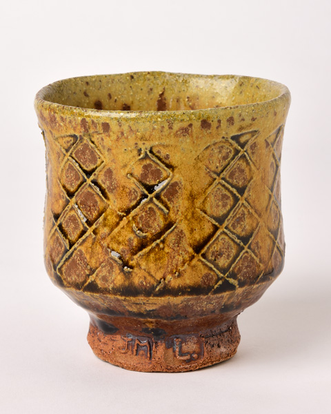 Jim-Malone_Paddled-Yunomi_with-river-iron-granite-and-ash-glazes.jpg