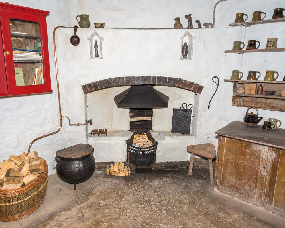 The old pottery fireplace