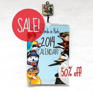 Birds in Hats - 50% off various items