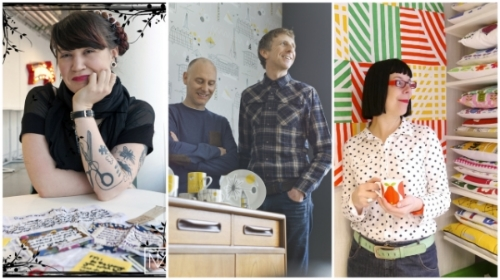 L-R: Sarah Corbett (Craftivists), Keith & Mark (Mini Moderns), Jane Foster