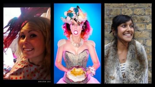 L-R: Perri Lewis, Miss Cakehead, Zeena Shah