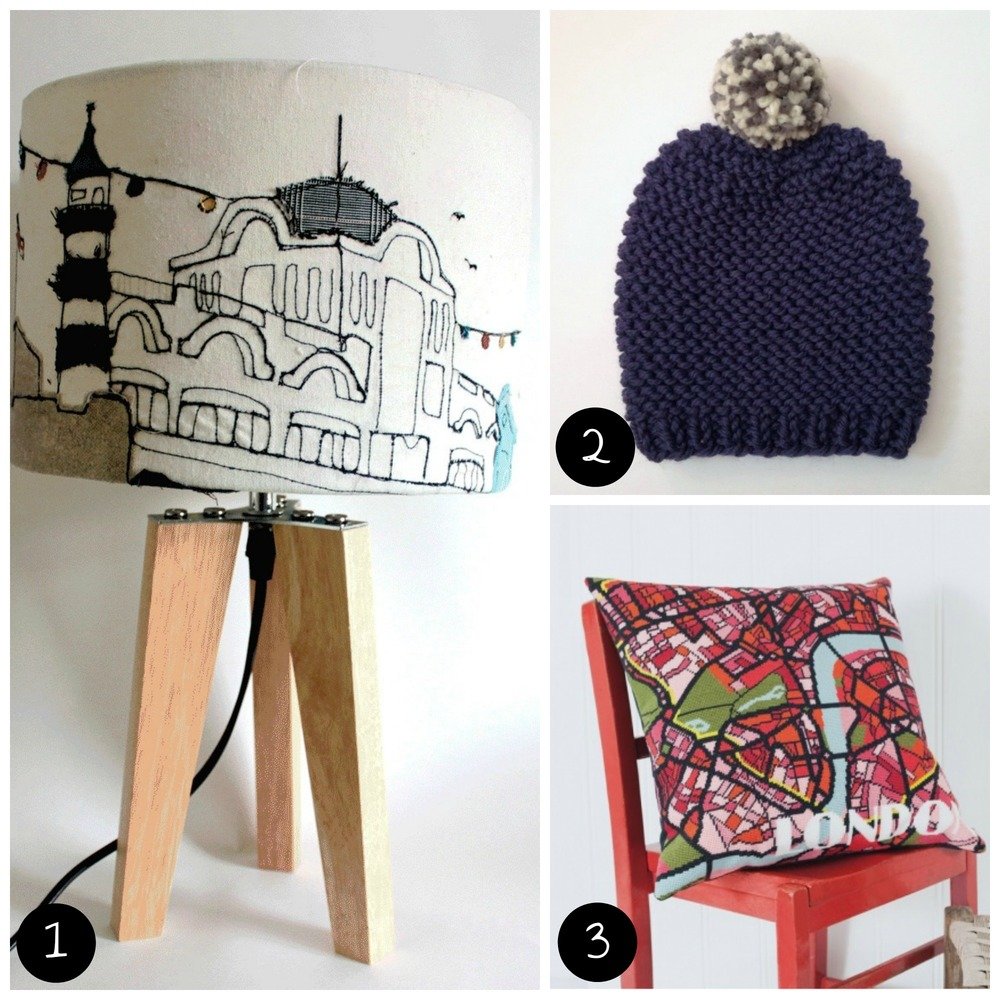 1. Emma Nicol Illustration (Brixton - Sun 7 Dec), 2. Miss Knit Nat (Dalston - Sat 29 Nov), 3. Hannah Bass Tapestry (Brixton - Sat 6 Dec).