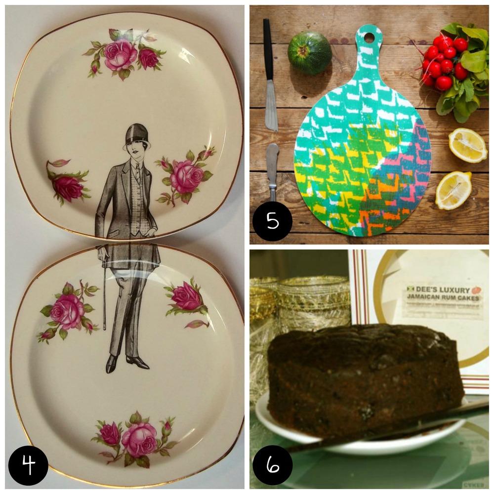 4.  Alijoe Designs  (Brixton - Sat 6 Dec), 5.  Jonna Saarinen  (Dalston - Sun 30 Nov), 6.  Dee's Luxury Jamaican Rum Cakes  (Brixton - Sat 6 Dec)
