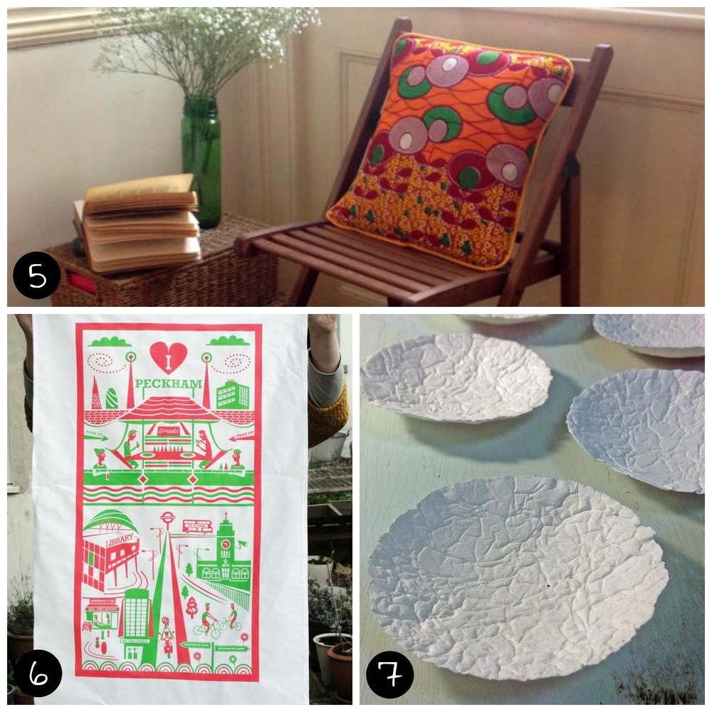 5.Gaynor Trophies (Brixton - Sun 26 April), 6.Ray Stanbrook Prints (Peckham - Sat 11 April), 7.White Light Ceramics (Peckham - Sun 12 April)